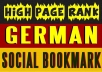 manually submit your website to 35 high pr German social bookmarking sites