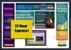 create a Professional Banner or Header High Quality of any size