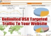 send 22000 + Unique Human Visitors(60to 70% US Traffic) with proof to your Website
