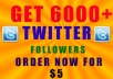 Add Over 6000 High Quality Real Looking TWITTER Followers To Your Account
