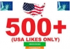 Provide 550+ Real & Active Human USA Facebook Likes only