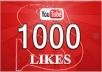 deliver 1000 YouTube Likes and 100 Comments