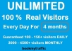 send UNLIMITED Real Visitors For 120 Days