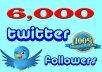 add 6000 twitter followers to your twitter profile