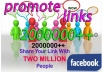 promote your link among REAL 2,000,000 Facebook members
