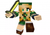 HD 3D render your Minecraft character