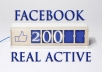 Provide You 200+ Real/Human/Unique/Active Fb Likes For Your page 100% Safely.