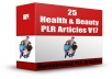 give you 25 health beauty plr articles