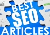 write, submit and approve 5 articles in 1 top directory
