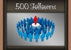 add On Your Instagram Account 500 Followers  very fast