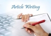 write an article,essay for you