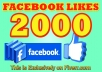 give 2000 non drop facebook likes