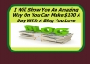 Teach you exactly how I make $100 dollars daily with a fresh and New Blog