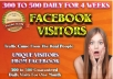 Drive  FACEBOOK Traffic To Your Website For One Month