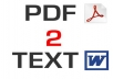 convert a pdf to doc,epub, text, jpeg and other