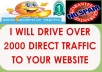 Drive Over 2,000 Direct Traffic To Your Site