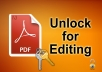 do PDF unlock for edit