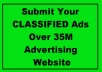 submit Your CLASSIFIED Ads Over 35M Advertising Website