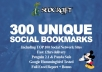 Add & Ping Your Site in 12hrs to 300 Seo Social Bookmarks HQ backlinks