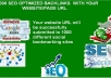 create 3000 social bookmark SEO backlinks plus ping in 1day