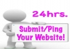 Submit/Ping your website to 2200 + different Websites in 24 hours