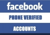 give you 5 USA phone verified Facebook account