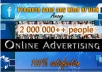 prOMOTE your link Among 2000000 Real People