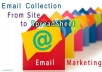 do Web Data Mining, Data and Email list in Excel