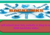 submit your WEBSITE or blog to over 3200 backlinks