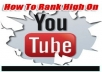get you 5000+ High quality and high retention 100 percentage safe YouTube video Views