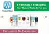 Create a Professional WordPress Website For You Just