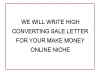 write a high converting SALE LETTER