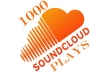 provide 1000 soundclod play within 24hrs