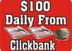 teach you how to earn over100 dollar Daily From Clickbank