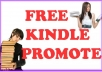 promote your free kindle book on 50000 fb kindle readers