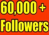 Give you 60,000+Super Fast Twitter Real-Looking Followers