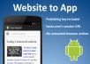 turn your website into an Android App