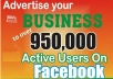 advertise Your products or website to over 950,000 people on Facebook