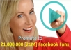 spread your any business to 21,000,000 Facebook Fans