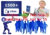 give 1500+ real facebook likes just