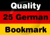submit your site to 25 German bookmarking Sites
