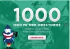 submit your site to 1000 High PR web directories, google friendly stop and buy