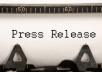 write a PROFESSIONAL Press Release of 400 Words