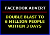 Blast Your Ad Twice To 6 Million Facebook Group Members Within 72 Hours