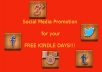 promote your Free Kindle book on Social Media