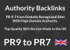 create PR9 Panda,Penguin and Hummingbird safe backlinks from 15 AUTHORITY Sites