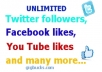 reveal to you the secrete of getting unlimited facebook likes,instagram followers, youtube likes and many more only