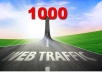drive 1000 genuine real traffic to your website