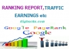 send a comprehensive ranking & traffic reports of your website
