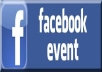 Provide you 100+ Event attendings on your Facebook event only for